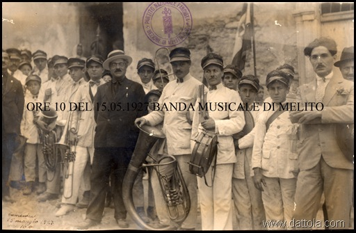 15.05. 1927 BANDA MUSICALE MELITO