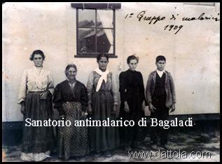 BAGALADI 1° GRUPPO DI MALARICI 1909 buona
