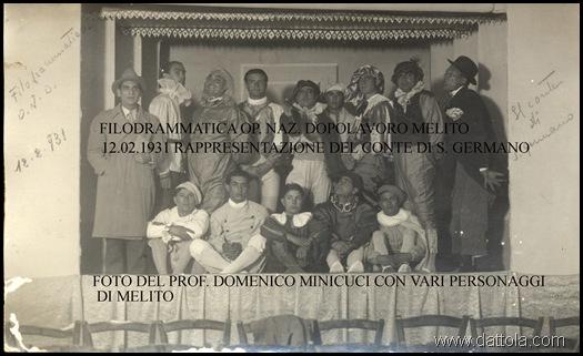 FILODRAM OP NAZ DOPOLAV MELITO 12-2-1931