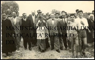 MANIFESTAZIONE GARIBALDINA CON NINO MANG ARC FERRO TROPEA, FEDELE CARMELO DATT