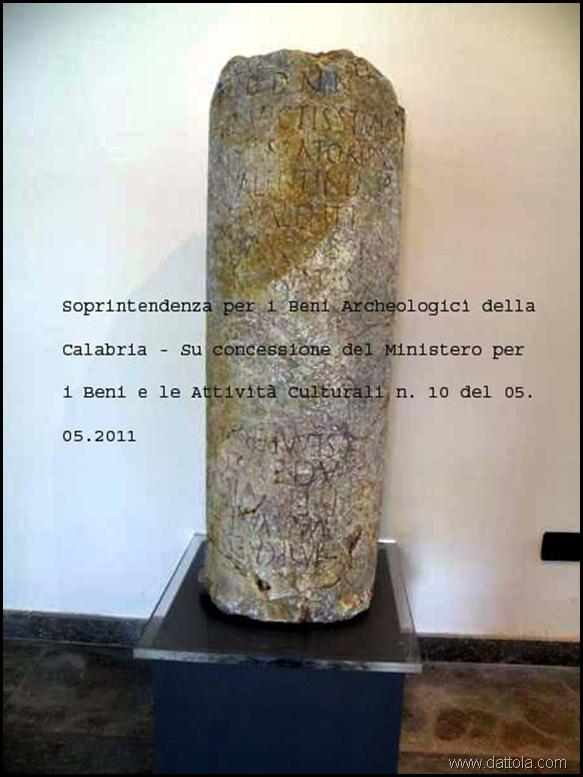 030_450x600 Cippo Miliare Romano con dicitura Ministeriale