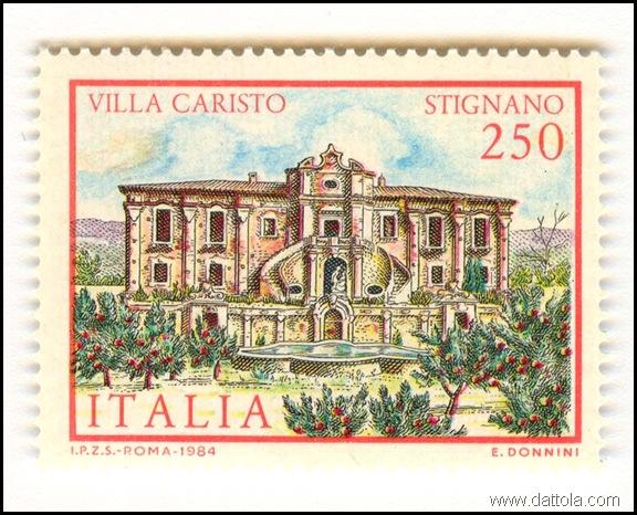 francobollo villa caristo