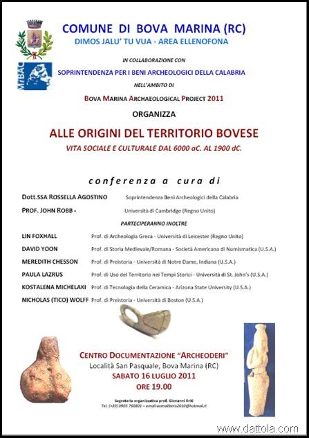 ALLE ORIGINI DEL TERRITORIO BOVESE MANIFESTO