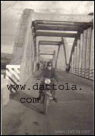 al ponte di Pilati aveva 19 anni era l'anno 1954 marcata