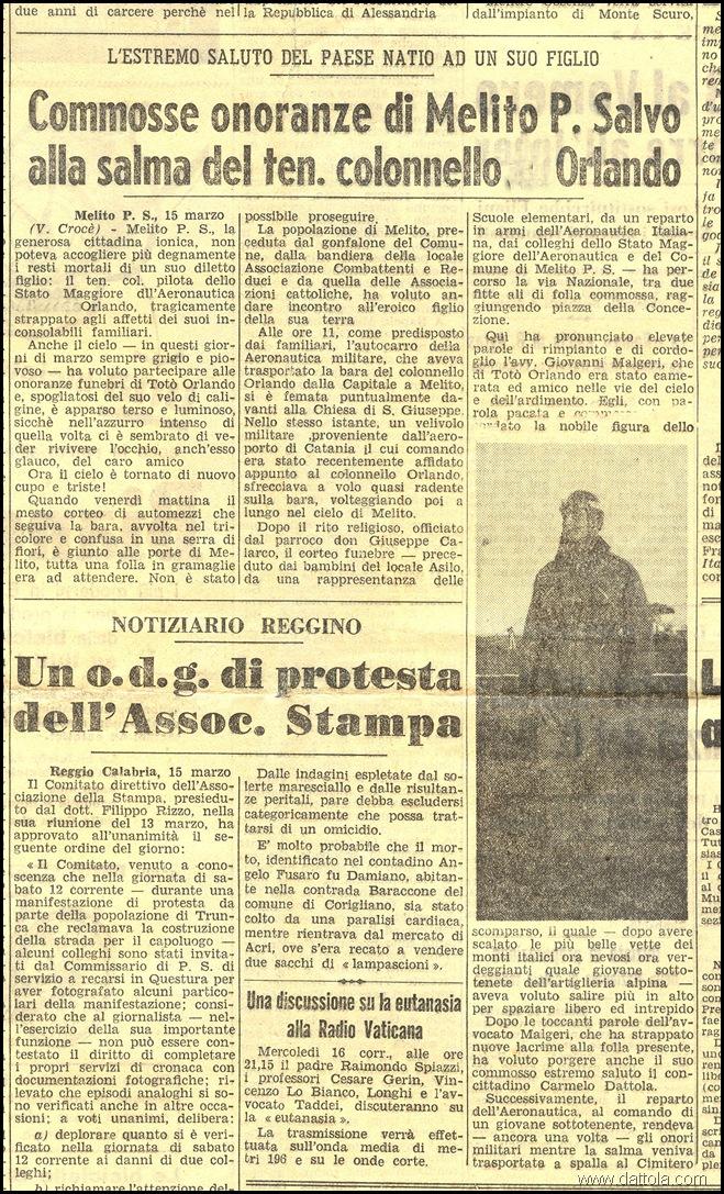 articolo di giornale di v. Crocè sul funerale di S. Orlando copy