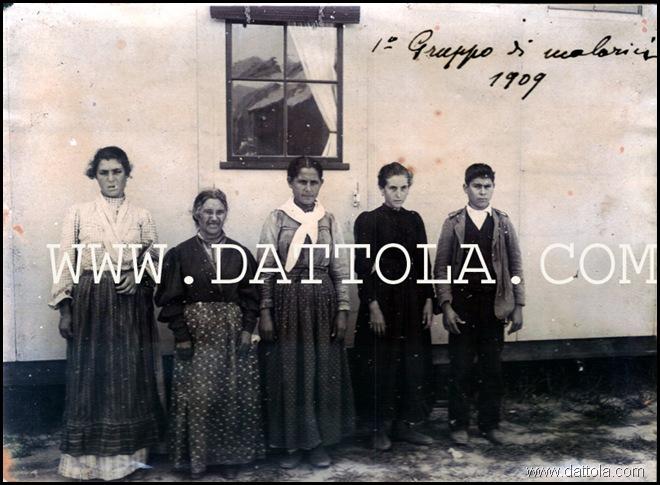 BAGALADI 1° GRUPPO DI MALARICI 1909 buona copy