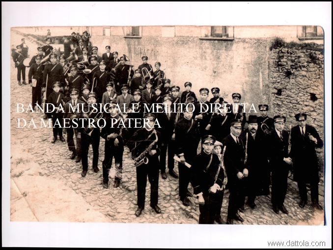 BANDA MUSICALE A MELITO IN BORGHESE MASTRO PIETRO PATERA
