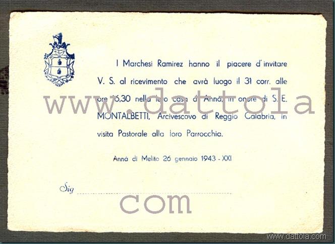 INVITO RICEVIMENTO IL 31GENNAIO 1943 PER VISITA MONTALBETTI copy