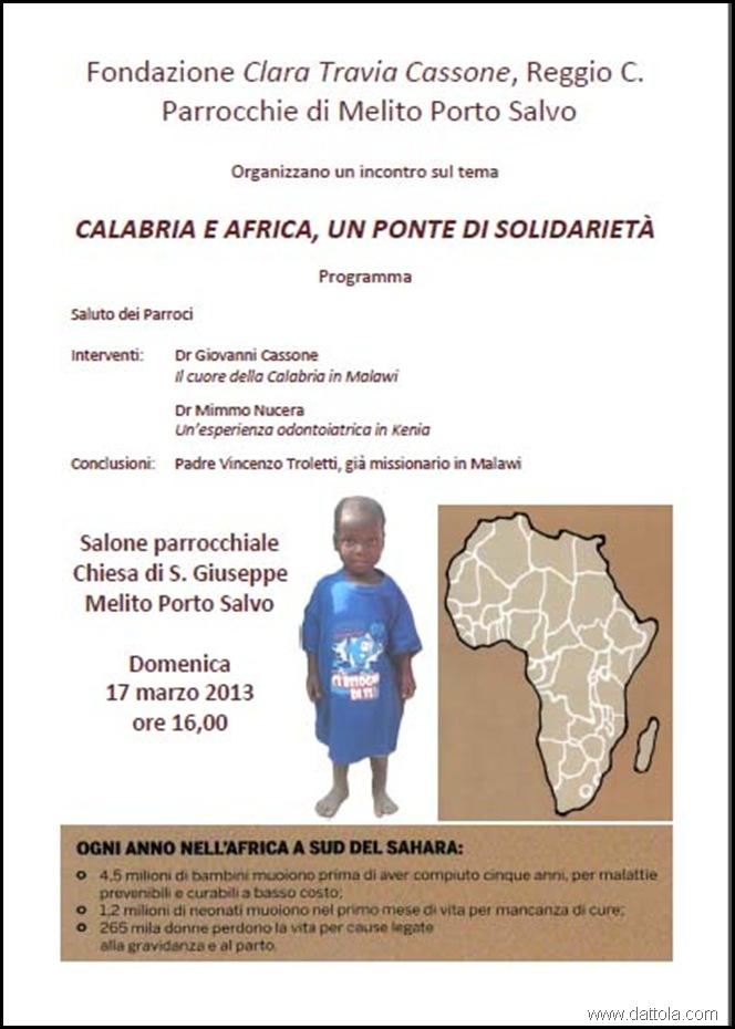 Squillaci solidarietà Africa