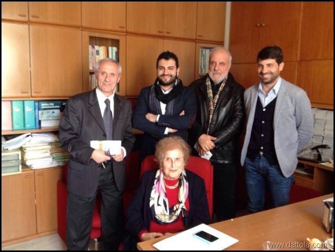 Da sinistra Marino, Laface, Toscano, Costarella e Suraci (seduta)