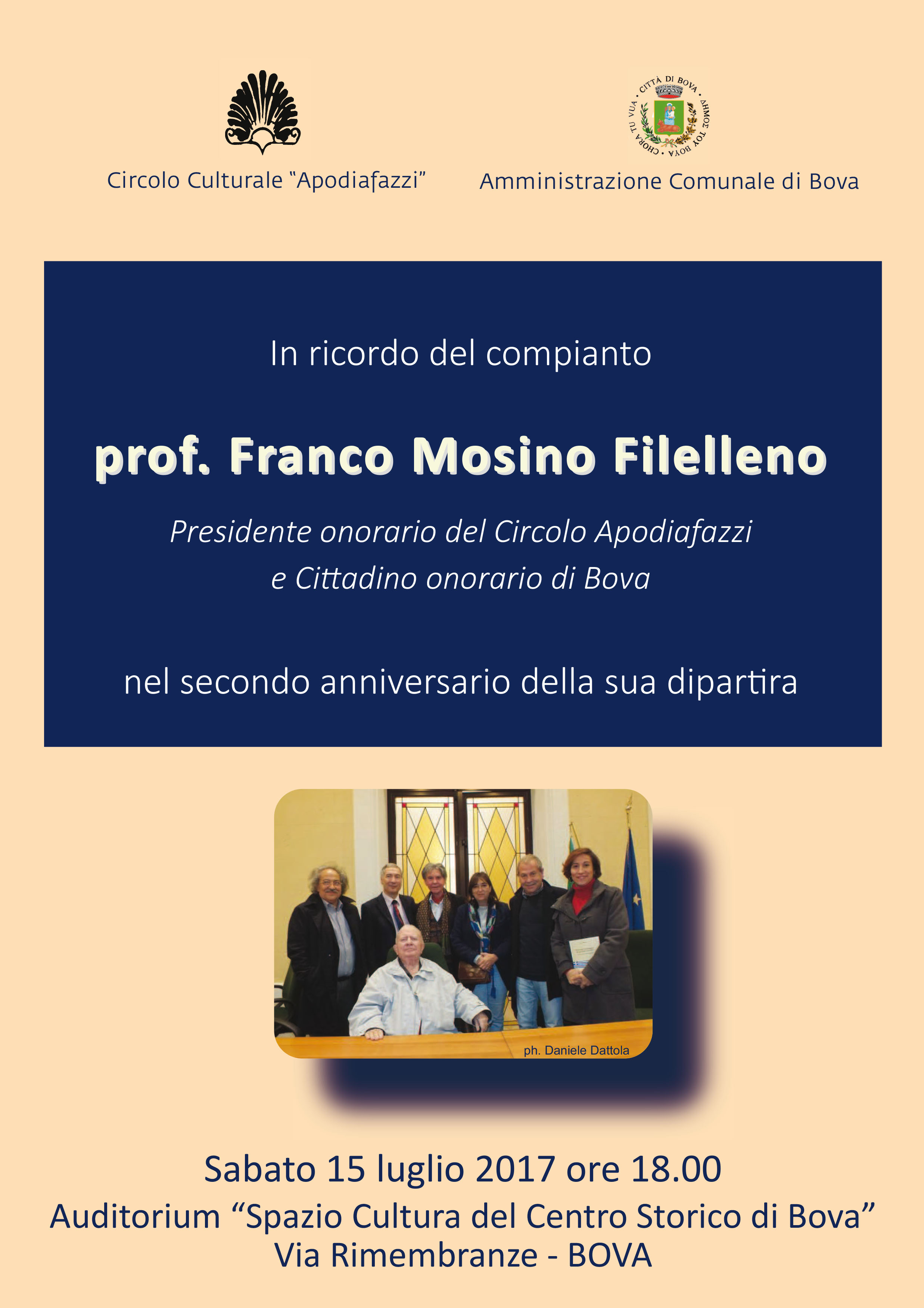 Locandina secondo anniversario Mosino